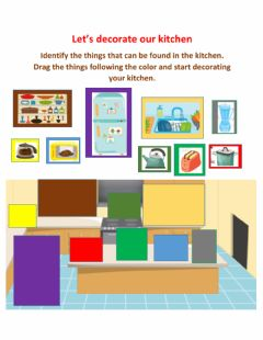 Interactive worksheet Rooms in the House