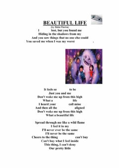 Interactive worksheet A song: what a beautiful life