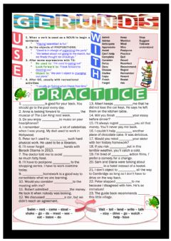 Interactive worksheet Gerunds