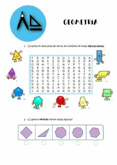 Interactive worksheet Repaso GEOMETRÍA