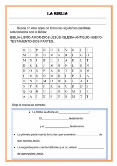 Interactive worksheet Biblia