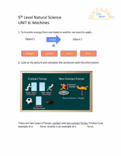 Interactive worksheet 5th Level Natural Science Unit 6