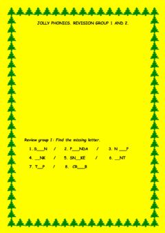 Interactive worksheet Jolly phonics group 1 and 2