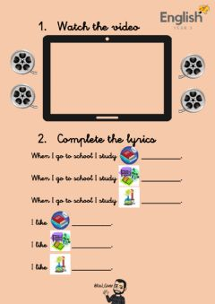 Interactive worksheet Listen to the song and complete the lyrics
