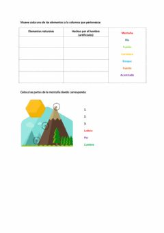 Interactive worksheet Paisajes de interior