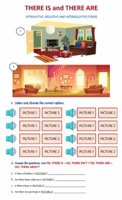 Interactive worksheet There is-are
