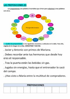 Interactive worksheet Preposiciones (ii)