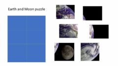 Interactive worksheet Earth and Moon puzzle