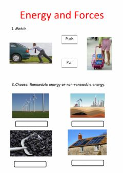 Interactive worksheet Energy and forces