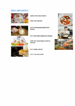 Interactive worksheet Cooking instructions