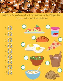Interactive worksheet Breakfast & Lunch