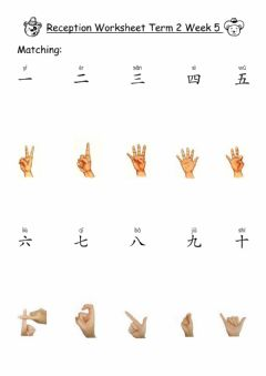 Ficha interactiva Reception - Chinese numbers