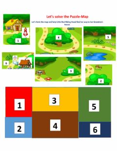 Interactive worksheet Map Puzzle