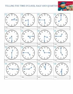 Ficha interactiva What time is it? please