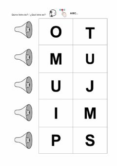 Interactive worksheet Letras