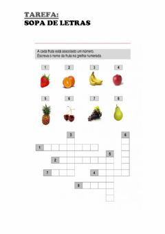 Interactive worksheet As frutas em português