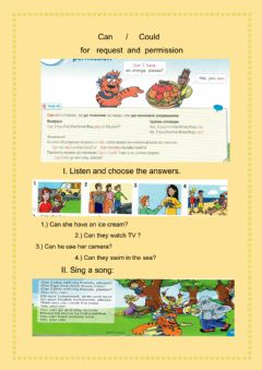 Interactive worksheet Can-Could
