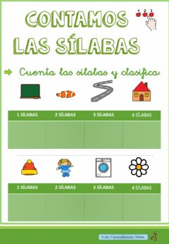 Interactive worksheet Contamos las sílabas