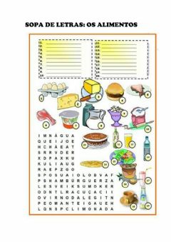 Interactive worksheet Os alimentos