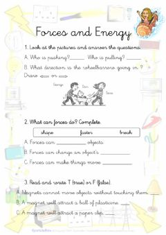 Interactive worksheet Forces and energy