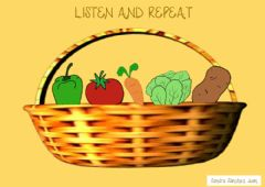 Interactive worksheet Listen and repeat vegetables