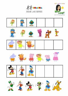 Interactive worksheet Sigue la serie