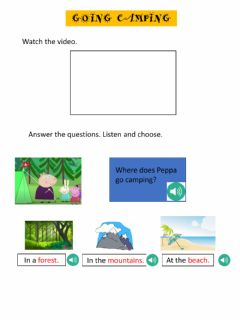 Interactive worksheet Camping with peppa