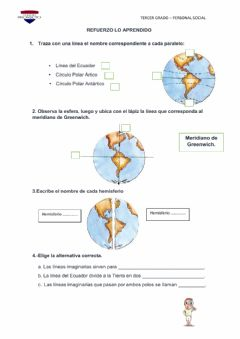 Interactive worksheet Líneas imaginarias