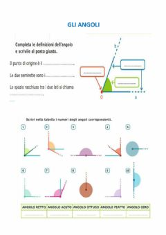 Interactive worksheet Gli angoli