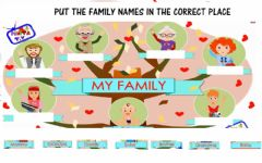 Interactive worksheet My family 4