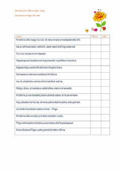 Interactive worksheet Meie Piiga