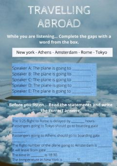Interactive worksheet Travelling abroad