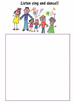 Interactive worksheet My family song