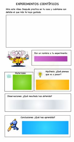 Interactive worksheet Experimentos