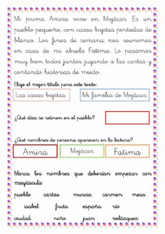 Interactive worksheet Lectura 3