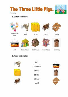 Interactive worksheet The Three Little Pigs