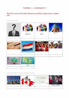 Interactive worksheet Vocabulary test - Canada part 2