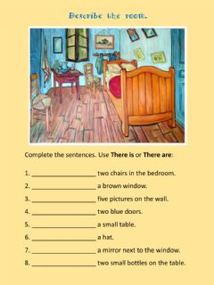 Interactive worksheet Describe the bedroom