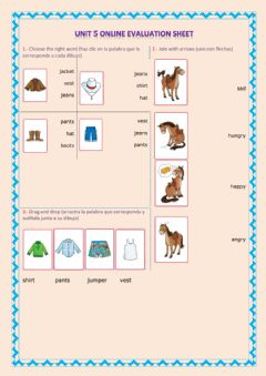 Interactive worksheet clothes and feeling words (2)