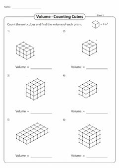 Interactive worksheet Counting cubes red