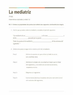 Interactive worksheet La mediatriz