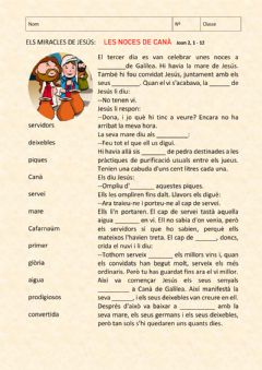 Interactive worksheet Les noces de Canà