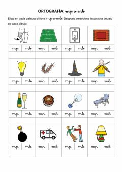 Interactive worksheet Ortografía MP y MB 2