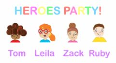 Interactive worksheet Heroes Party