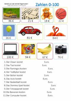Interactive worksheet Zahlen 0-100