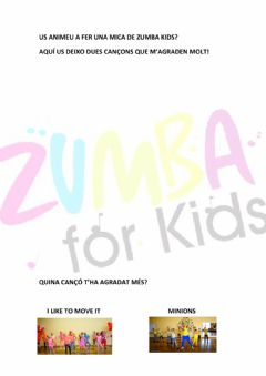 Interactive worksheet Zumba Kids!
