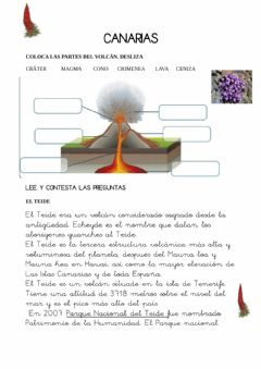 Interactive worksheet Canarias