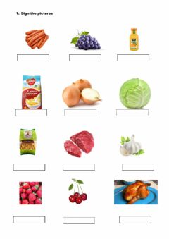 Interactive worksheet Cooking process
