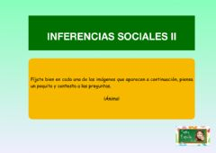 Interactive worksheet Inferencias sociales II