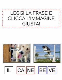Interactive worksheet Leggi la frase